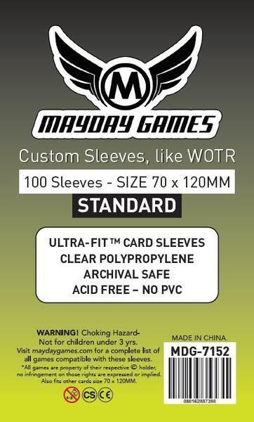 Tarot Card Sleeves - (100/pack) 70 X 120 MM