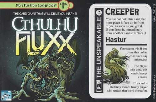 Cthulhu Fluxx: Hastur The Unspeakable Promo Card