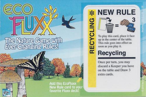 Eco Fluxx: Recycling Promo Card