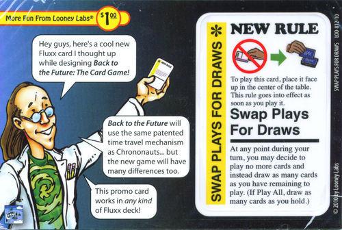 Fluxx: Swap Plays for Draws Promo Card