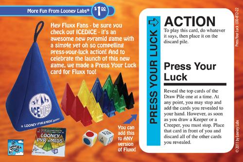 Fluxx: Press Your Luck Promo Card