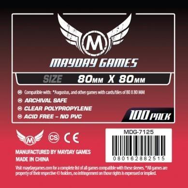 Medium Square Card Sleeves - (100/pack) 80 X 80 MM