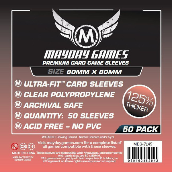 Medium Square Premium Card Sleeves - (50/pack) 80 X 80 MM