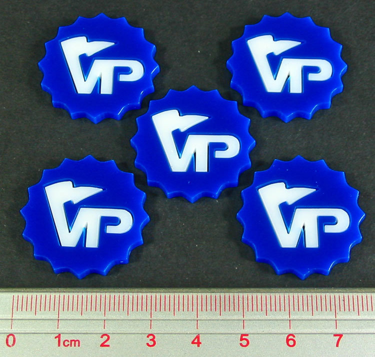 Deluxe Victory Point Tokens (5) - Blue