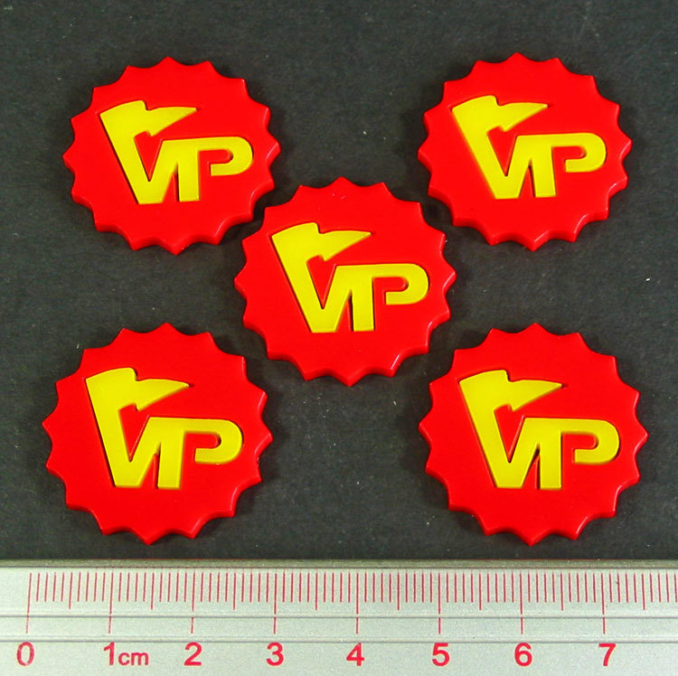 Deluxe Victory Point Tokens (5) - Red