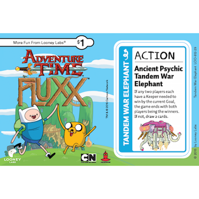 Adventure Time Fluxx: Tandem War Elephant Promo Card