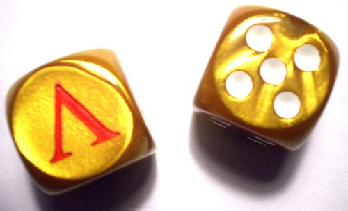 Custom d6 - Sparta