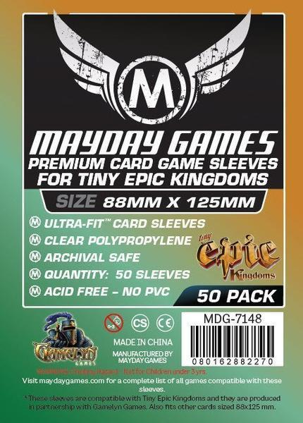 """Tiny Epic Kingdoms"" Premium Card Sleeves - (50/pack) 88 X 125 MM"