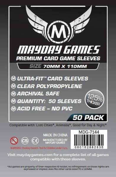 Magnum Silver Ultra-Fit Premium Sleeves (50/pack) 70 X 110 MM
