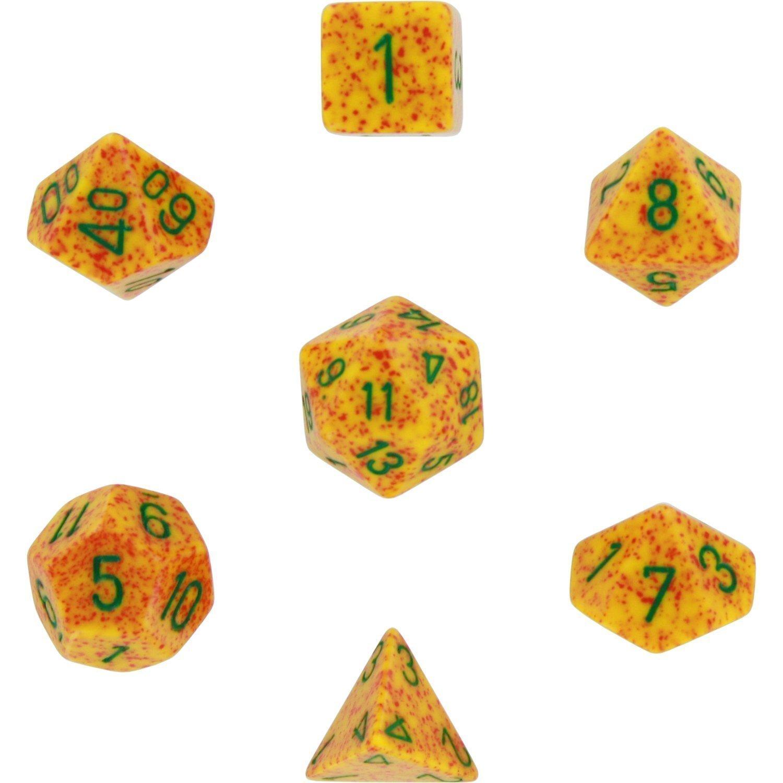 Polyhedral 7-die RPG Set (Chessex) Speckled, Lotus