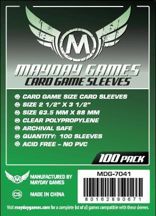 Card Game Sleeves, Green Label (100/pack) 63.5 X 88 MM