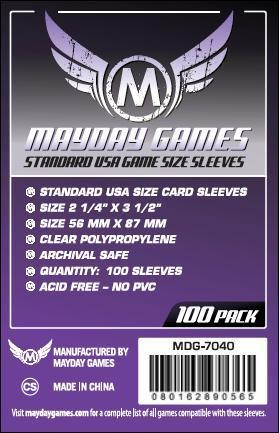 Standard USA Size Sleeves, Purple Label (100/pack) 56 X 87 MM