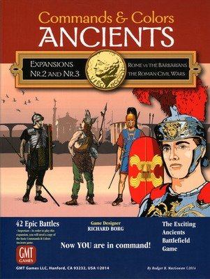 Commands & Colors: Ancients Expansion Pack 2 & 3 - Rome vs. The Barbarians & The Roman Civil War, 2nd Printing