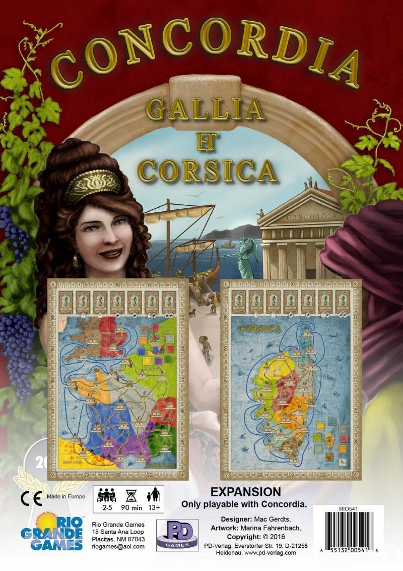Concordia Expansion Maps: Gallia & Corsica