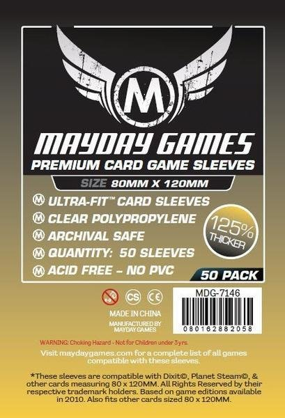 Magnum Gold Ultra-Fit Premium Sleeves (50/pack)  80 X 120 MM