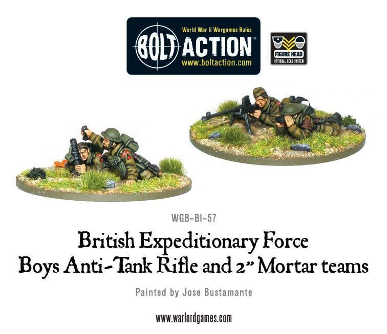 "Bolt Action: BEF Anti-Tank Rifle and 2"" Light Mortar Teams"