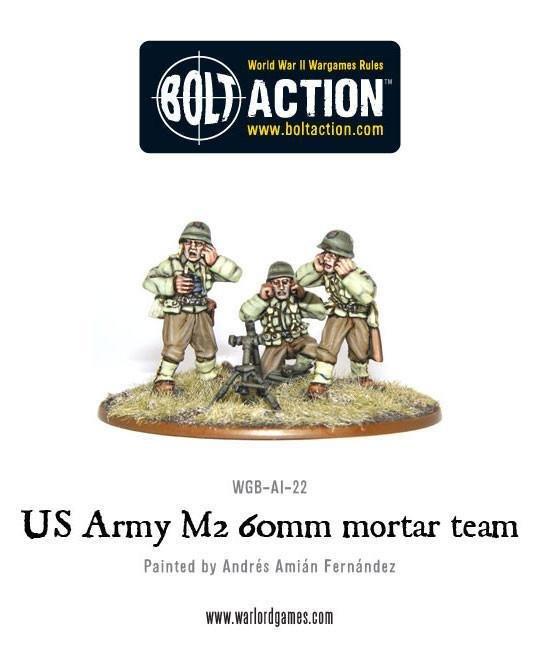 Bolt Action: US Army 60mm Light Mortar Team