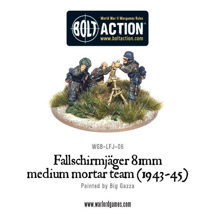 Bolt Action: German Fallschirmjager 81mm Medium Mortar Team