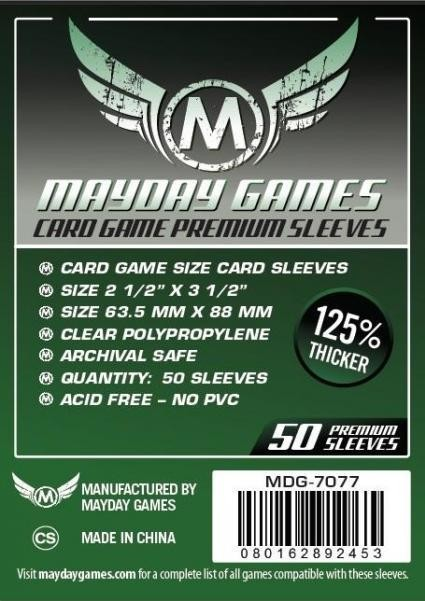 Card Game Sleeves, Dark Green Label Premium (50/pack) 63.5 X 88 MM
