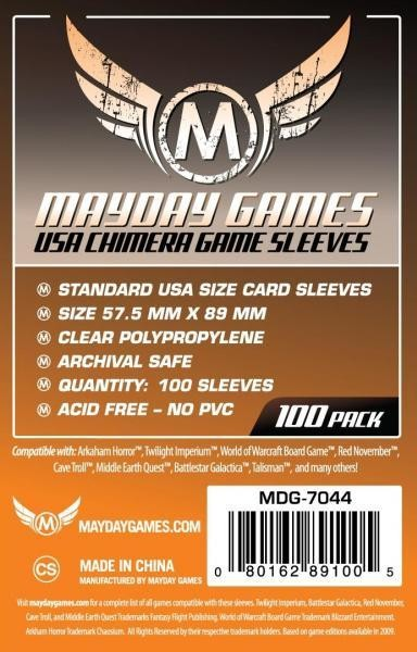 USA Chimera Sleeves, Orange Label (100/pack) 57.5 X 89 MM