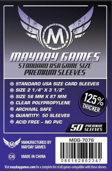 Standard USA Sleeves, Dark Purple Label Premium (50 pack) 56 X 87 MM
