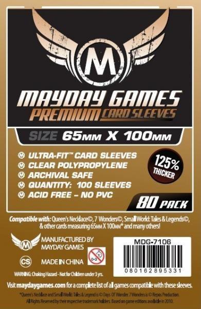 Magnum Copper Ultra-Fit Premium Sleeves (80/pack) 65 X 100 MM (7 Wonders Sleeves)