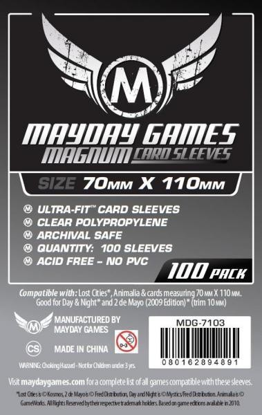 Magnum Silver Ultra-Fit Standard Sleeves (100/pack) 70 X 110 MM