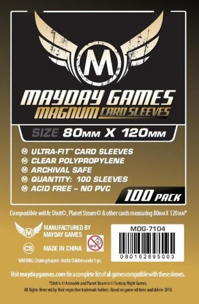 Magnum Gold Ultra-Fit Sleeves (100/pack)  80 X 120 MM