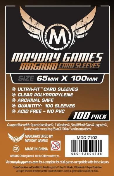 Magnum Copper Ultra-Fit Sleeves - (100/pack) 65 X 100 MM