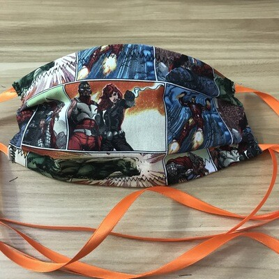 Marvel comic fabric pleated mask