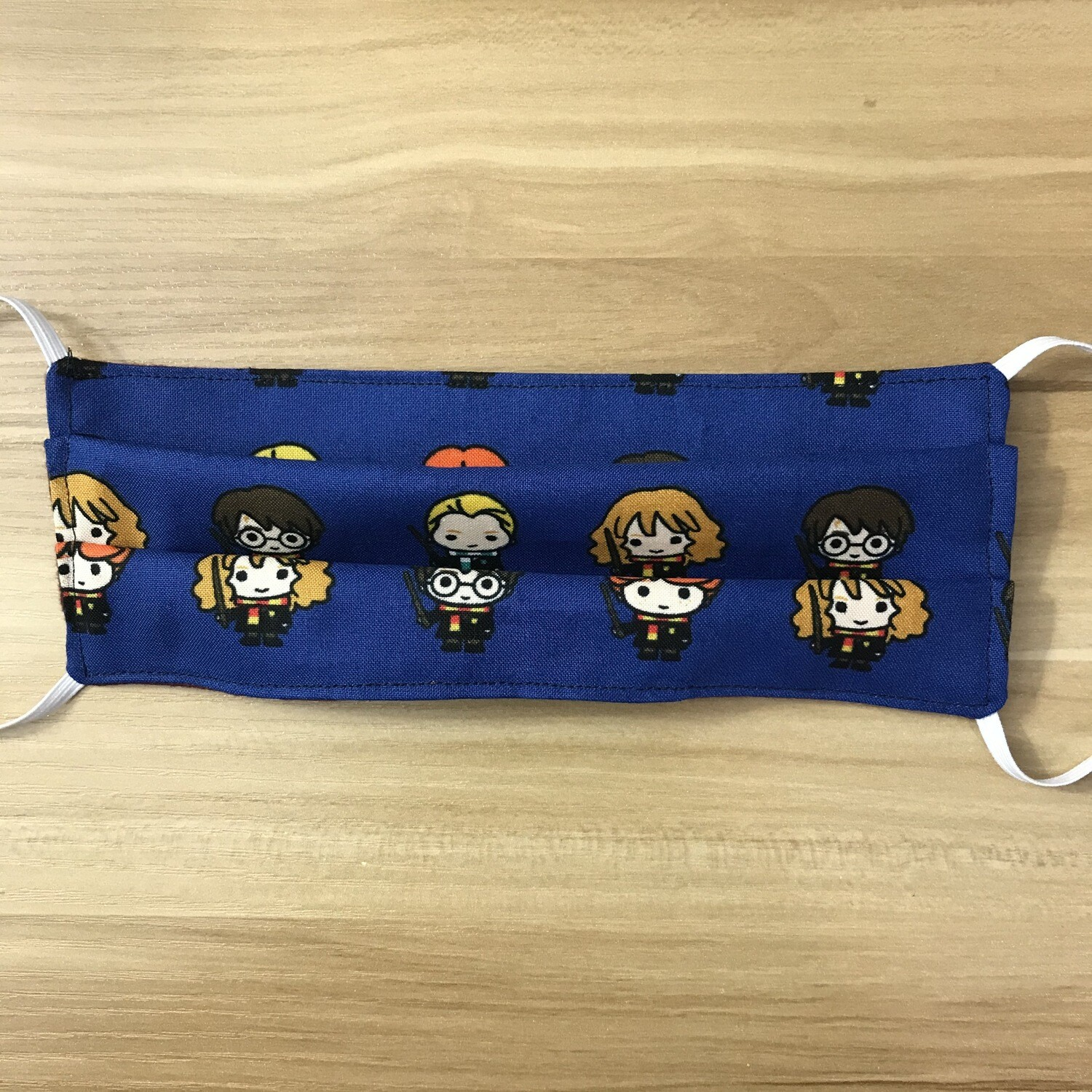 Harry Potter chibi characters fabric pleated mask - elastic band