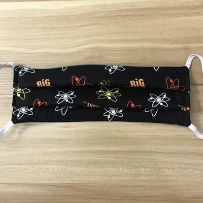 Big Bang Theory fabric pleated mask - elastic bands