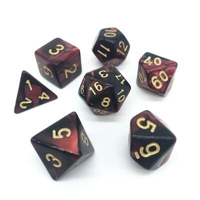 Dice Set - Black & Red