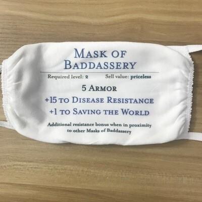 Mask of Baddassery fabric mask