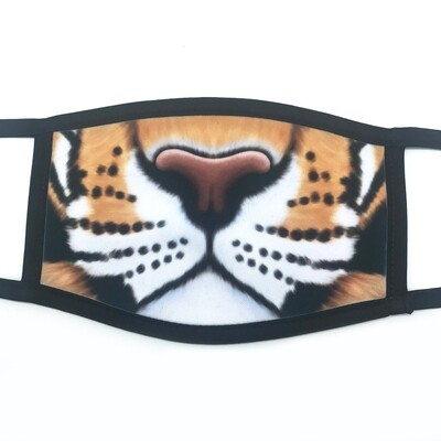 Tiger face fabric mask - small