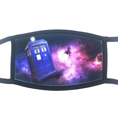 Timey Whimey fabric mask - small