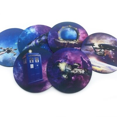 Sci-Fi Coaster Set of 6