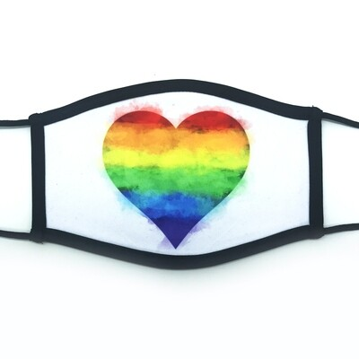 Pride Heart fabric mask - large