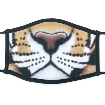 Tiger face fabric mask - large