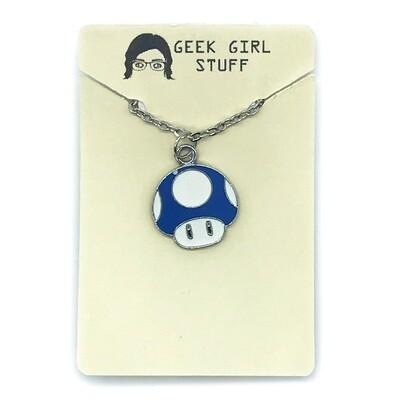 Charm Necklace - Blue mushroom