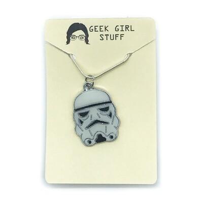 Charm Necklace - Sad trooper head