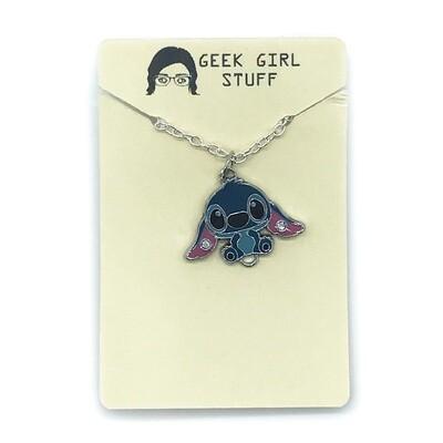 Charm Necklace - Blue alien friend