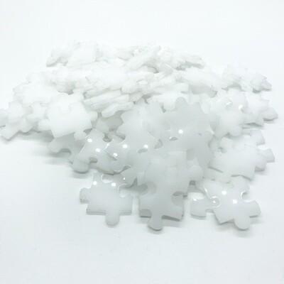 100 piece white acrylic puzzle - no edges