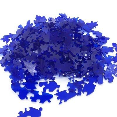 171 piece cobalt blue acrylic puzzle - spiral, no edges