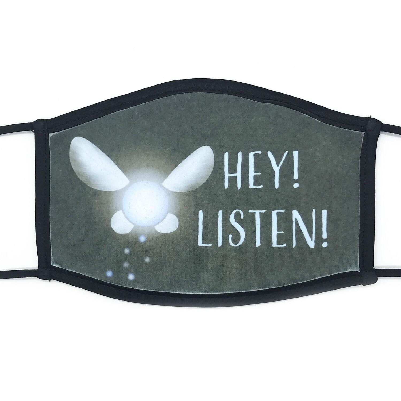Hey, Listen! fabric mask - large