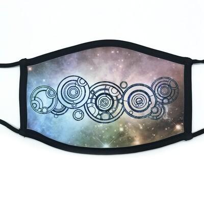 Gallifreyan fabric mask - large