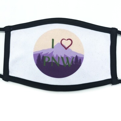I Love PNW fabric mask - small/medium
