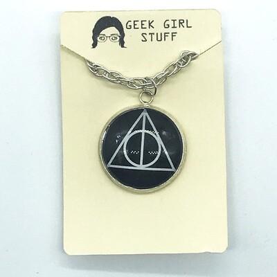 Photo Necklace - Deathly Hallows dark
