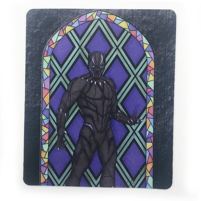 Mousepad/Game Mat - Stained Glass Tchalla