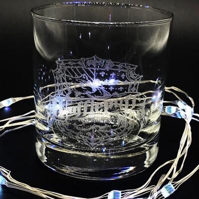 Etched 8oz rocks glass - Loyal Wizarding House